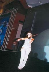 新闻发布会/欢快热烈的电子小提琴表演为新闻发布会活动开场