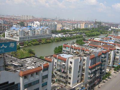 组图:南通新老城区鸟瞰图