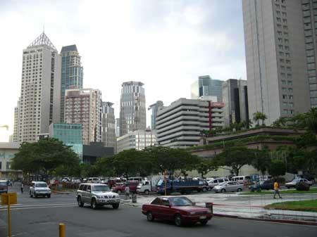 尼拉的繁华商业区