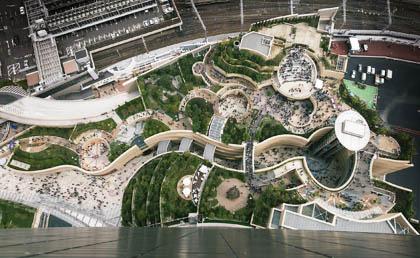 日本捷得国际建筑师事务所总体规划和建筑设计的美国难波公园(namba做装修设计好吗图片